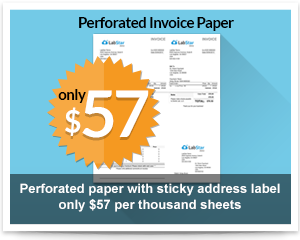 labstar perforated invoice paper
